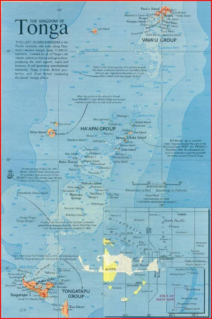 Tonga Map Free Coloring Pages